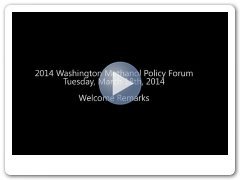2014 Methanol Policy Forum Welcome Remarks